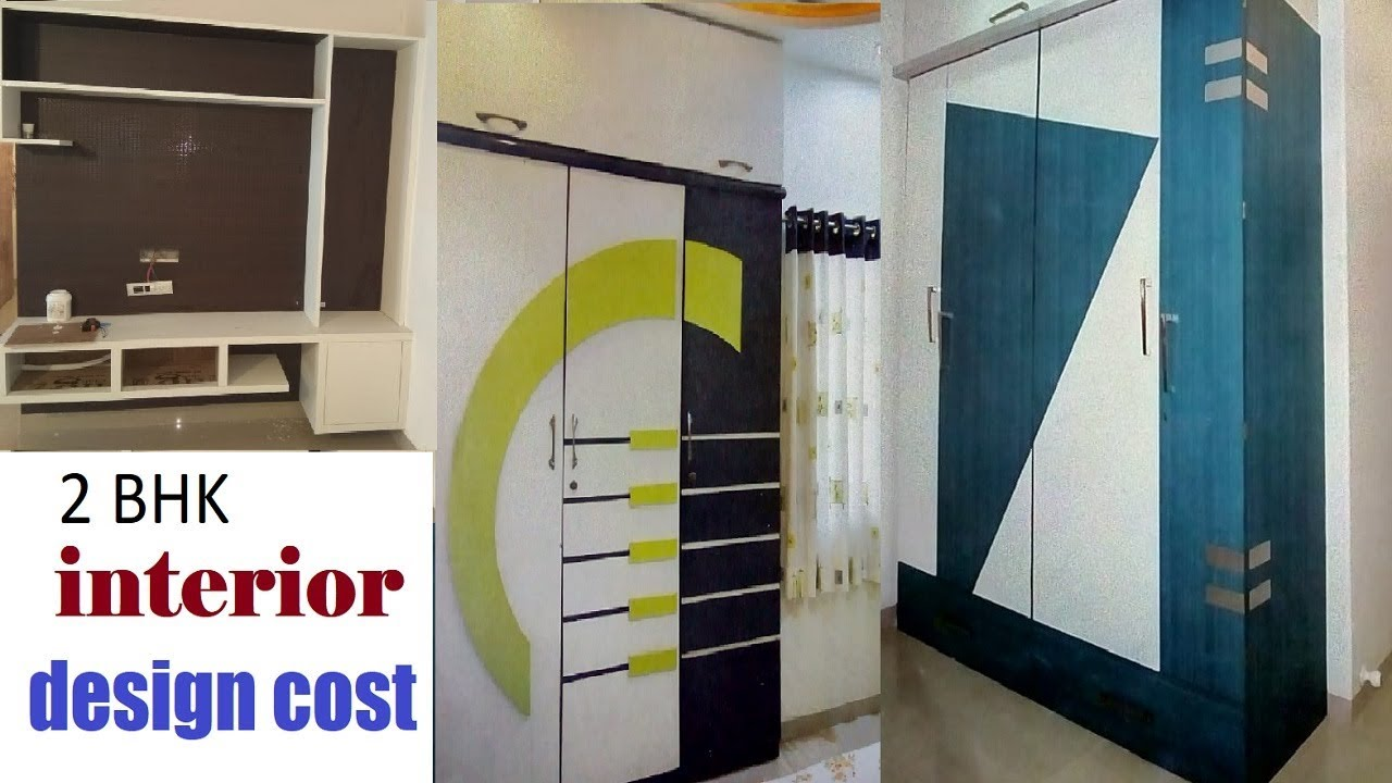 2 5 To 4 Lakhs 2 Bhk Interior Design Cost In Hyderabad Tv Unit Bedroom Cupboard Modular Kitchen Youtube
