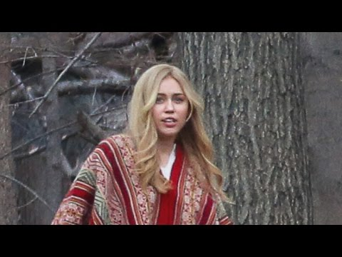 Miley Cyrus Rocks Long, Blonde Wig on Set of New Woody Allen Amazon Series
