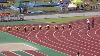 第37回東海中学校総合体育大会陸上大会 女子1年100m決勝