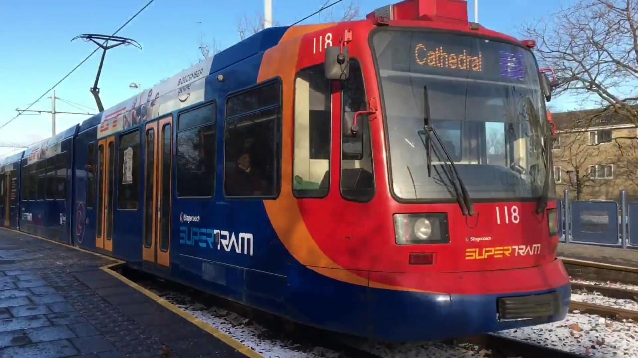 Sheffield Supertram 111 in IKEA advert seen departing Middlewood ...