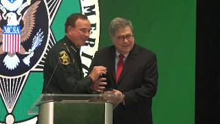 Attorney General William P. Barr delivers remarks at the Major County Sheriffs of America Winter Con