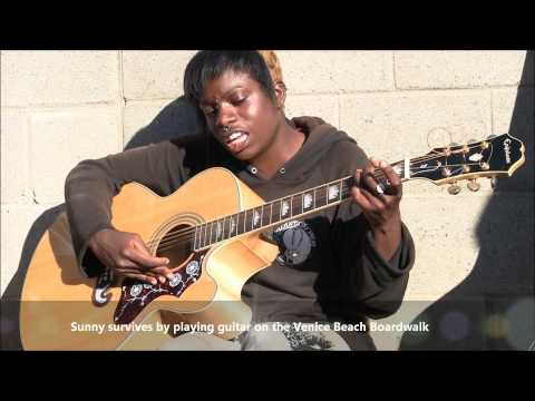 """Bob Marley Redemption Song """"By Amazing Homeless Girl in Voices in the Sand, America the Free"""""""