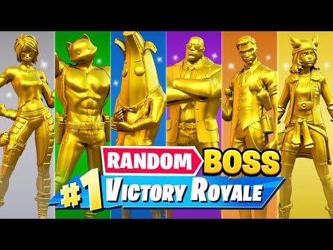 The *RANDOM* GOLD BOSS Challenge In Fortnite!