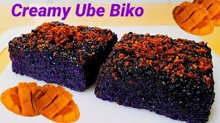 THE BEST CREAMY UBE BIKO RECIPE! Ang Sarap!!! Sarap na Uulit Ulitin Mo!