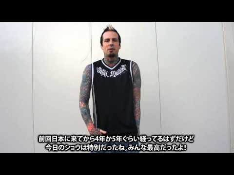 "FIVE FINGER DEATH PUNCH ""KNOTFEST JAPAN 2014""-激ロック 動画メッセージ"
