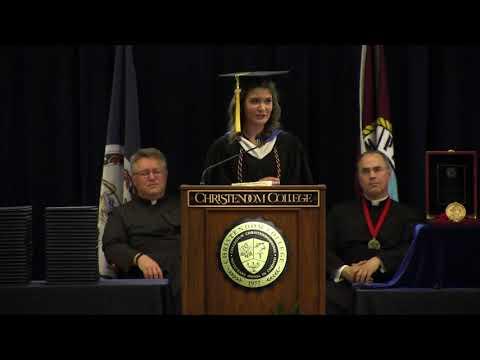 Emma Wynne | Salutatory Address | Christendom College Commencement 2018