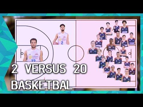 2 TEGEN 20: Basketbal - met GENIALE HULPMIDDELEN | ZAPPSPORT