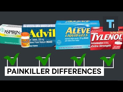 The main differences between Advil, Tylenol, Aleve, and Aspirin