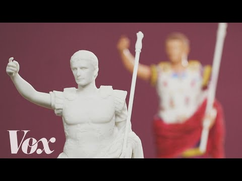 Video image: The white lie we've been told about Roman statues
