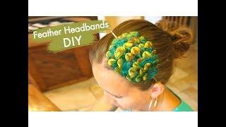 Feather Headbands DIY | Hair Accessories | Cute Girls Hairstyles
