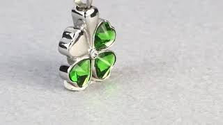 Marlary stainless steel Beautiful Four Leaf Clover flower cremation jewelry