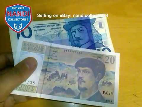 France 20 Francs 1991 + Netherlands 10 Gulden 1968