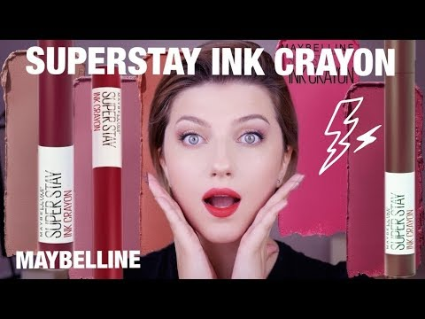 ПОМАДА-КАРАНДАШ MAYBELLINE SUPERSTAY INK CRAYON! 11 оттенков