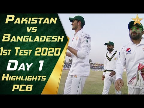 Pakistan vs Bangladesh 2020 | Short Highlights Day 1 | 1st T