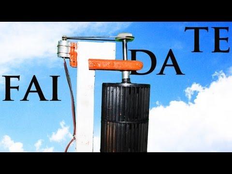 Turbina Eolica Verticale • Fai da Te - YouTube