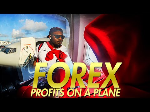 REAL FOREX PROFITS ! Trading Forex Live On A Plane (Should I Give Away This Forex Sauce)