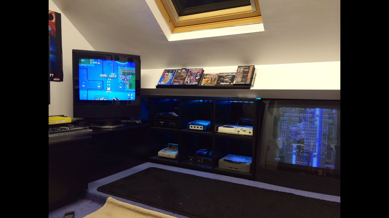 Classic Man Cave Game : Games room man cave retro gaming setup tour december youtube