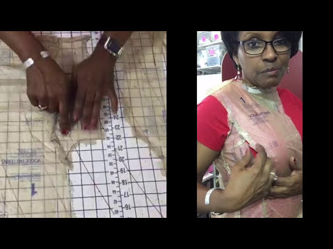 V9025 Dress- Part 1: Pattern Adjustments-Full Bust on Princess Seams