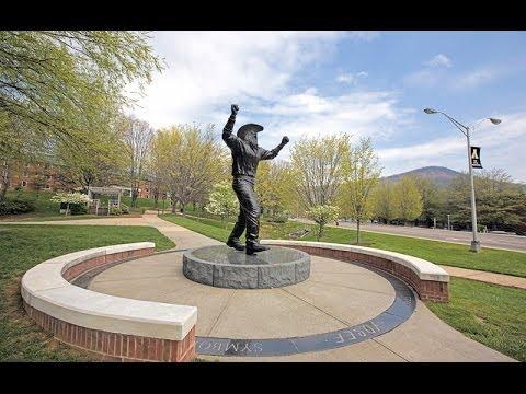 Appalachian State University campus walk around