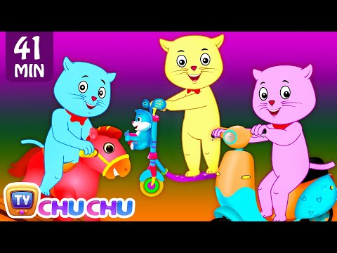 Thumbnail: Three Little Kittens Went To The Park - Nursery Rhymes by Cutians™ | ChuChu TV Kids Songs