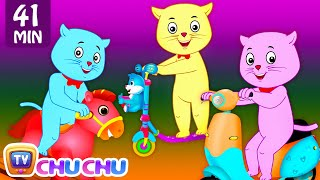 Three Little Kittens Went To The Park - Nursery Rhymes by Cutians™ | ChuChu TV Kids Songs thumbnail