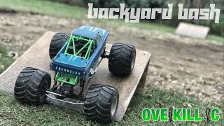 Quick Backyard Bash w/ the Axial SMT10 | Running Footage | Overkill RC