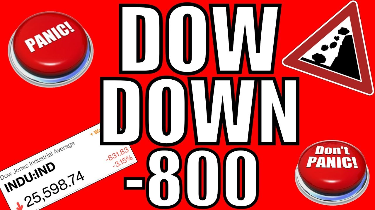 WHY The Stock Market Crashed Today – Dow Jones Down 800 Points October 10, 2018 - YouTube
