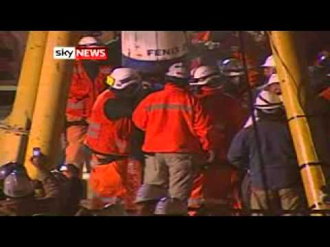 Chilean Miners Rescue: First Man Tastes Freedom