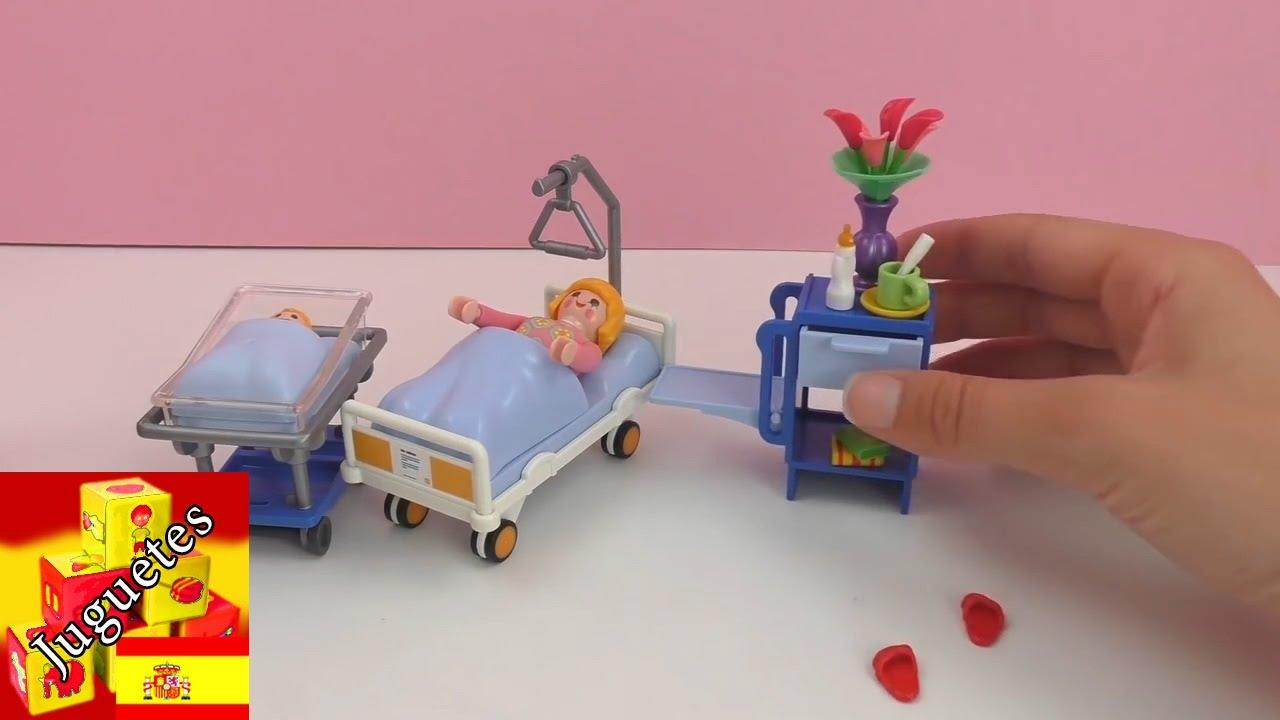Playmobil hospital espa ol cuarto de hospital con mam e for Hospital de playmobil