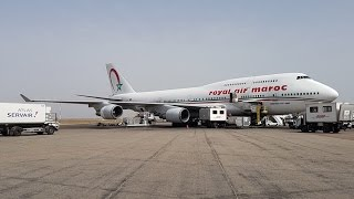 Royal Air Maroc B747-400 Business Class Review Montreal to Casablanca