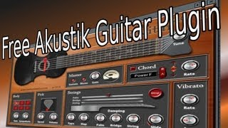 FREE Akustik GUITAR (Akustische GITARRE) VST Plugin Software Synthesizer Fl Studio Tutorial Download