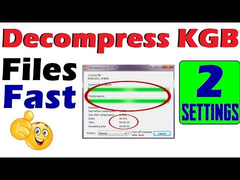 How to Decompress KGB File Faster than Fast  Latest  100% Working by BrijkTech