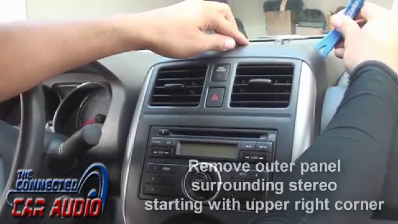 maxresdefault remove factory stereo nissan versa 2012 and up youtube  at bakdesigns.co