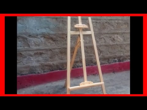 DIY LIFE HACKS (How To Assemble Wooden Easel Stand)