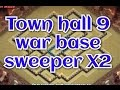 Clash of Clans - Best TOWN HALL 9  War base AIR SWEEPER X2