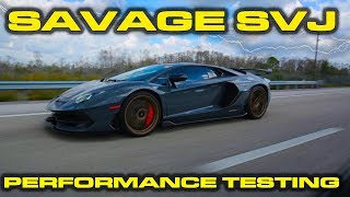 SAVAGE LAUNCHING SVJ * Lamborghini Aventador SVJ Performance Review using Launch Control
