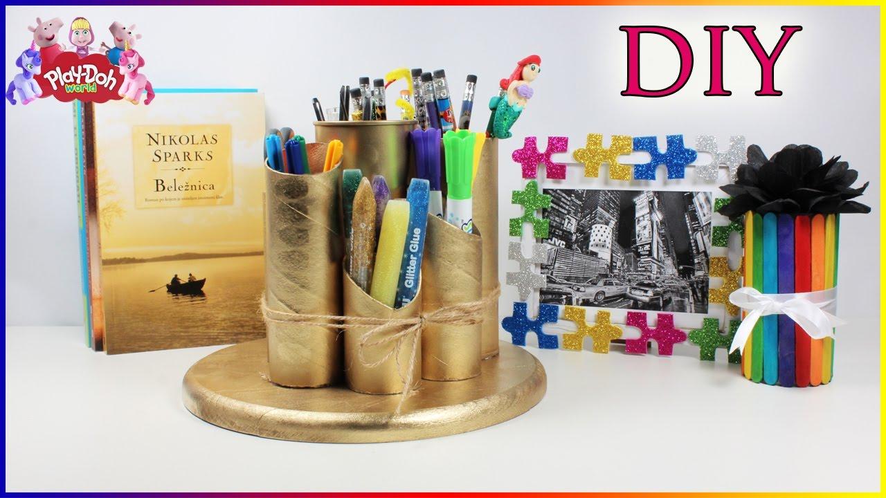School Supplies Organizer DIY | Popsicle Sticks Craft | Rainbow Pencil Box