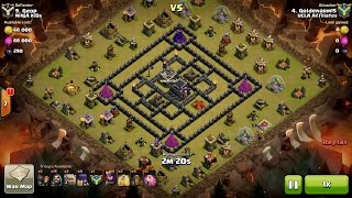 Clash of Clans TH9 vs TH9 Golem, Wizard & Witch (GoWiWi) (No BK) Clan War 3 Star Attack