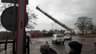 Wysadzenie komina w Kwidzynie