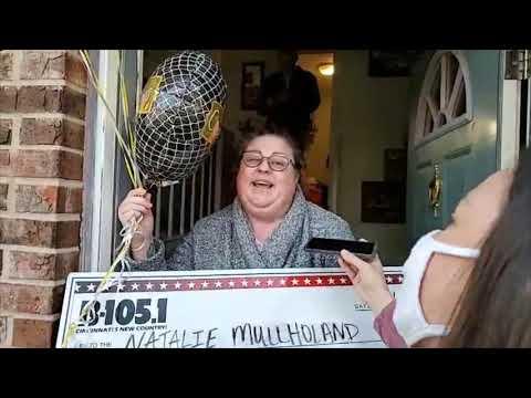 B-105 Gives Natalie $20,000!