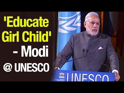 PM Modi addresses at UNESCO in France | Three Nation tour | Full speech