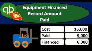 QuickBooks Online 2019-Equipment Financed Record Amount Paid