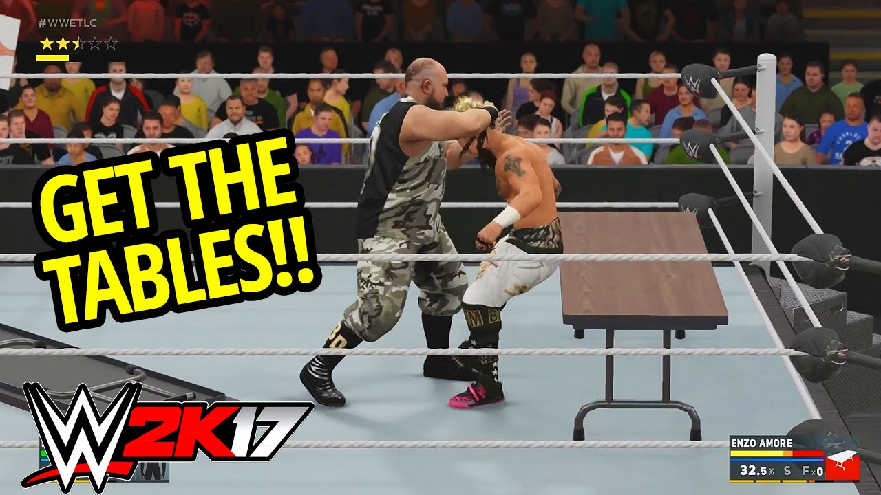 WWE 2K17 - TABLE MATCH GAMEPLAY & NEW TABLE MECHANICS!! (WWE 2K17 ...