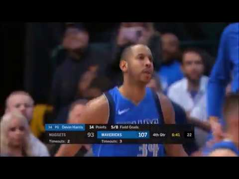Yogi Ferrell 16 pts, Devin Harris 14 pts, Dwight Powell 11pts 7rebs vs Nuggets | Dec 04, 2017