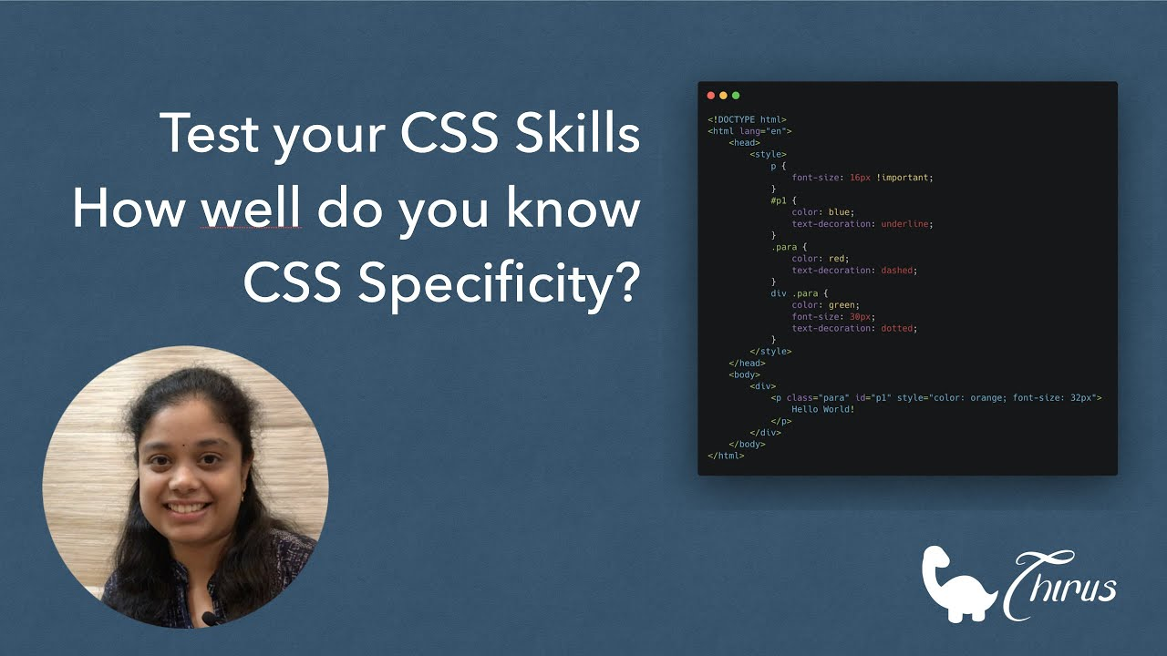 Test your CSS Skills | How well do you understand CSS Specificity?