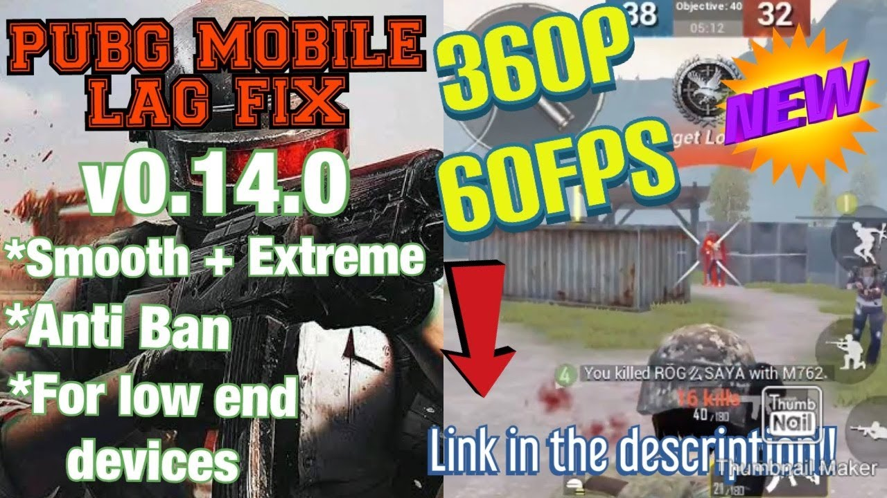 PUBG Mobile 0.14.0 Lag fix without GFX Tool |360p 60FPS Smooth + Extreme  Config |No BAN| -