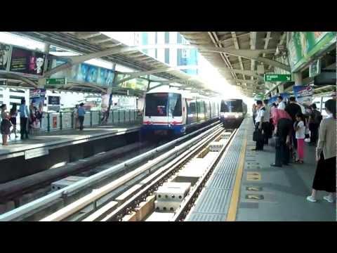 Metro and Skytrains in Bangkok, Thailand