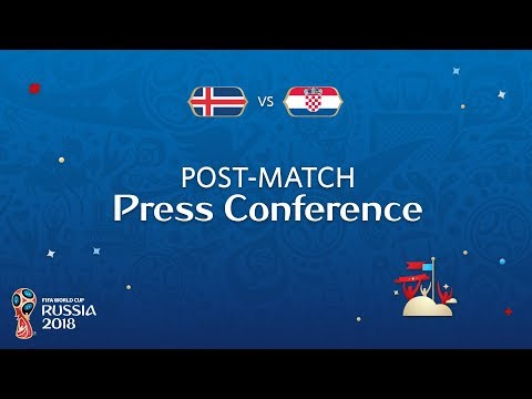 FIFA World Cup™ 2018: Iceland v. Croatia - Post-Match Press Conference