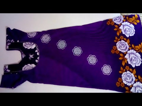 Nighty cutting and  stitching methods || How to stitching Nighty in tamil video