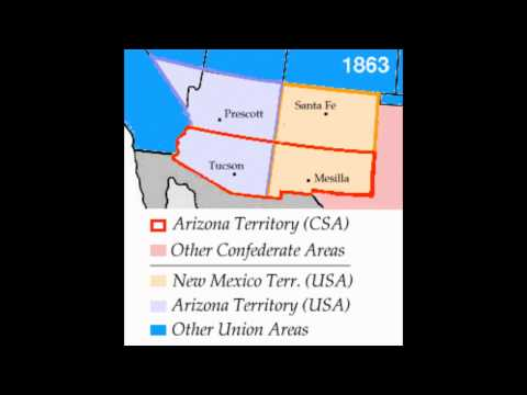 American Civil War 150th Anniversary This Day in History: Territory of Arizona Joins the Confederacy